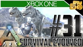 Ark Xbox One Gameplay! Ep 31 - TWIN ALBINO T-REX'S!!!
