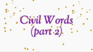 Definition Of Civil Words