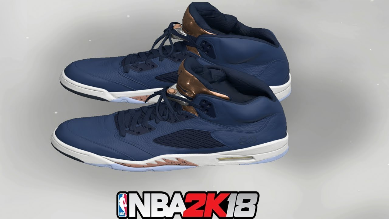 NBA 2K18 Shoe Creator ⋆#NBA2K18⋆ Jordan 5 Bronze
