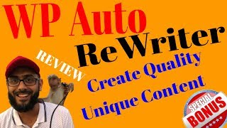 WP AutoRewriter Review💥Automatically Spin Wordpress Posts  to Create Unique Content 💥Auto Rewriter