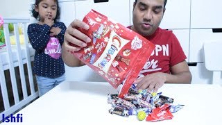 Ishfi Hide lots of Candies Fun Time with Daddy
