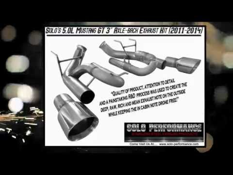 SOLO PERFORMANCE EXHAUST VIDEO FOR 5.0L FORD MUSTANG GT 2011- 2014
