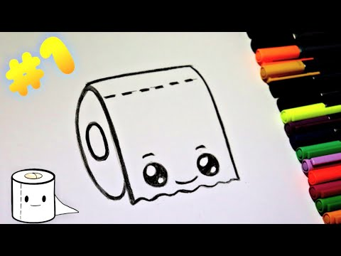 "hot-to-draw-a-cute-tissue-very-easy---როგორ-დავხატოთ-""ტუალეტის-ქაღალდი""-მარტივად"