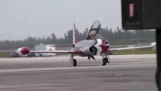 Vintage T-33 Thunderbird/F-80 Shooting Star at Wings Over Homestead November 2009