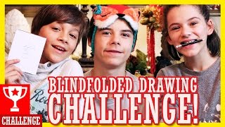 BLINDFOLDED DRAWING CHALLENGE!! CHRISTMAS EDITION!     KITTIESMAMA