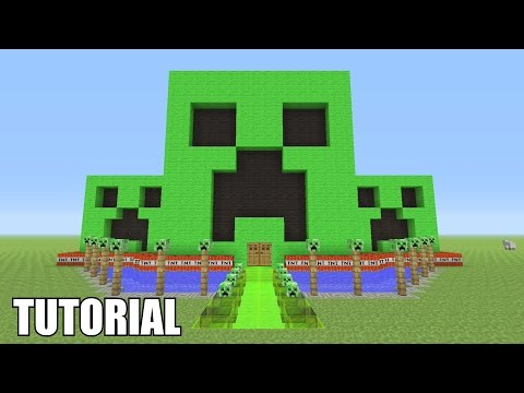 Minecraft Tutorial: How To Make A CREEPER!! Survival House (ASH#32)