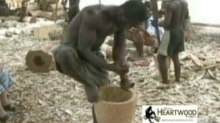 Djembe - Making a Djembe - Ghana, West Africa