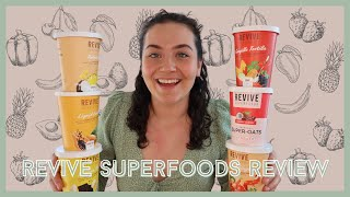I ATE REVIVE SUPERFOODS FOR A WEEK | Taste Test and Review