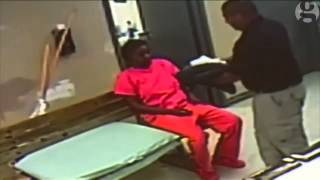Sandra Bland jail intake: Changing clothes and taking mugshot