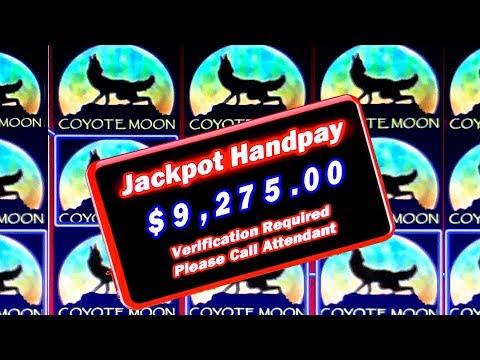 HIGH LIMIT COYOTE MOON JACKPOT! ★ $100 BETS ON SLOT MACHINE ➜ LIVE PLAY & BONUSES