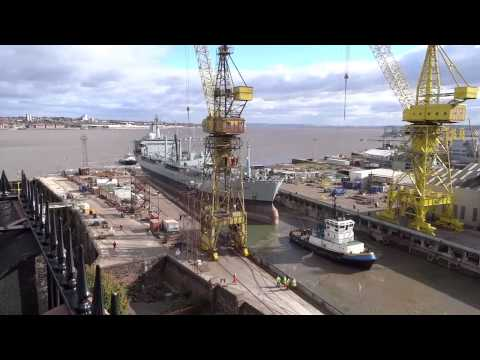 Cammell Laird - Orangeleaf leaves shipyard dry dock