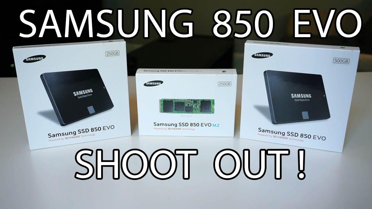 Samsung 850 Evo M2 250gb Vs Sata 500gb Ssd Benchmarks 250 Gb 30 25 Inch 3d V Nand Technology Youtube