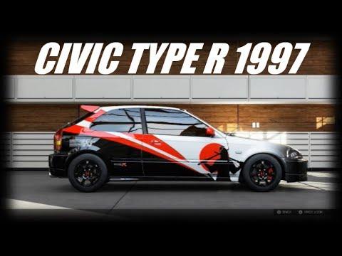 forza motorsport 5 custom livery designs honda civic type. Black Bedroom Furniture Sets. Home Design Ideas
