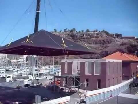 Elevaci n de cubierta a cuatro aguas youtube for Casas techos cuatro aguas