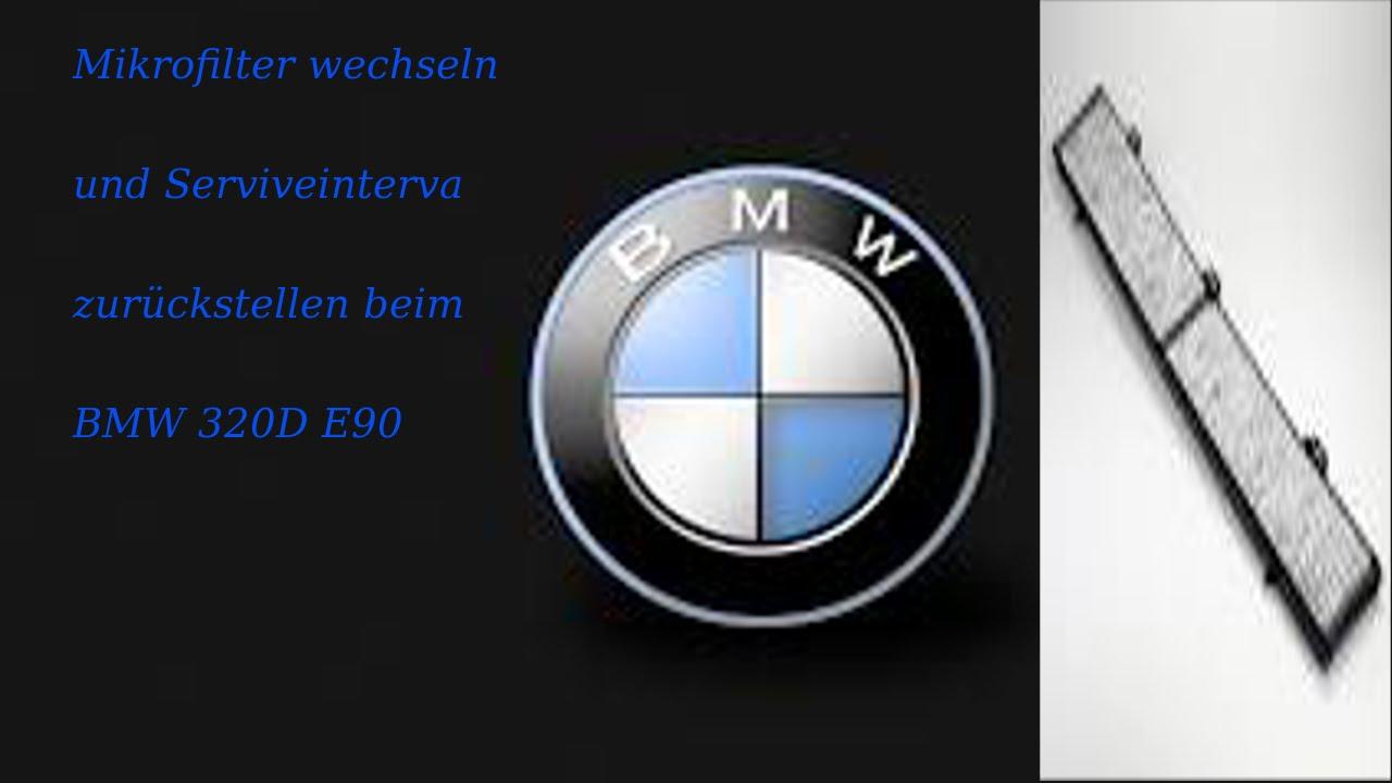 Mikrofilter wechseln und Serviceintervall zurückstellen beim Bmw E90 ...