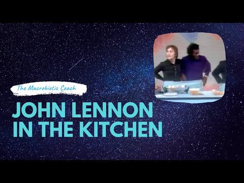 John Lennon In The Kitchen With Guest Chuck Berry Co Macrobiotic Tv Demo Youtube