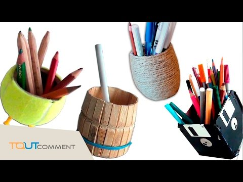 comment faire un porte crayon travaux manuels faciles diy youtube. Black Bedroom Furniture Sets. Home Design Ideas