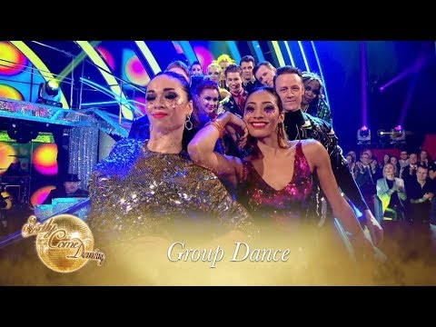 Pro Dancers' perform a tribute to Prince in Week Seven's group dance – Strictly Come Dancing 2017