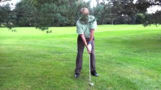 Hook round the trees 5 iron