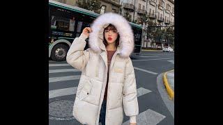 Модная зимняя куртка женская короткая 2020 новый корейский стиль с капюшоном свободная хлопковая
