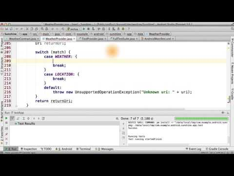 Coding the Content Provider: Inserting - Developing Android Apps