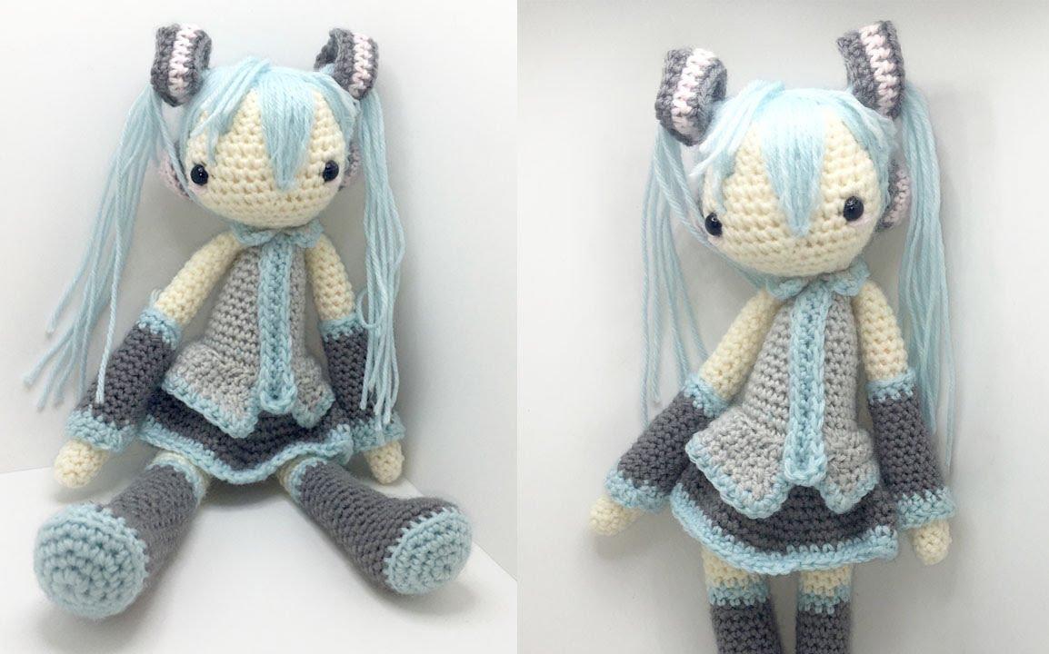 Basic Amigurumi Crochet Doll Tutorial Part 1 Youtube Dinocrofo