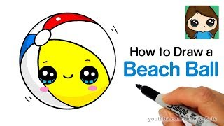 How to Draw a Beach Ball Easy and Cute