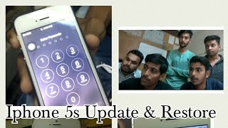 Iphone 5s update & restore done by TEXEL STUDENTS | REMOVED PASSLOCK | (Tutorial)