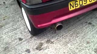 Peugeot 106 XSi 1.6 Sportex exhaust sound!