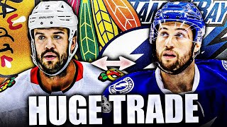 HUGE BLACKHAWKS & LIGHTNING TRADE: BRENT SEABROOK TO TAMPA BAY FOR TYLER JOHNSON (Chicago NHL News)