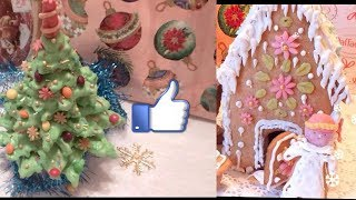 Топ 3 Новогодние рецепты  сладости Ёлочка Дед мороз Домик