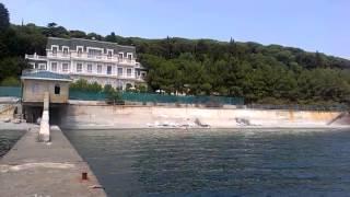 Пляж санатория Карасан. пгт. Партенит(, 2013-07-21T09:45:21.000Z)