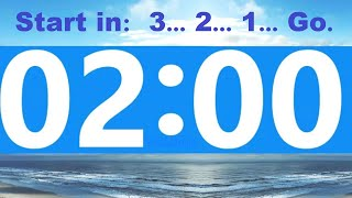2 Minute Countdown Timer -Beep & Time Remaining at Each Minute * NO ADS DURING TIMER -No Music 2021 screenshot 4