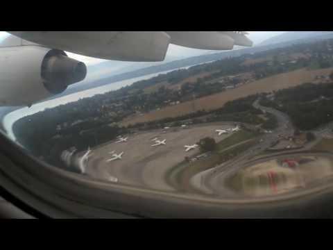 ONBOARD - Swiss RJ100 LX356 Geneva Airport to London Heathrow (FULL FLIGHT)
