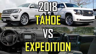 $80K SUV FACEOFF -- 2018 Ford Expedition vs. 2018 Chevy Tahoe: Comparison