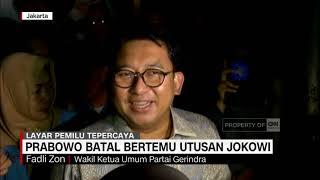 Prabowo Batal Bertemu Utusan Jokowi