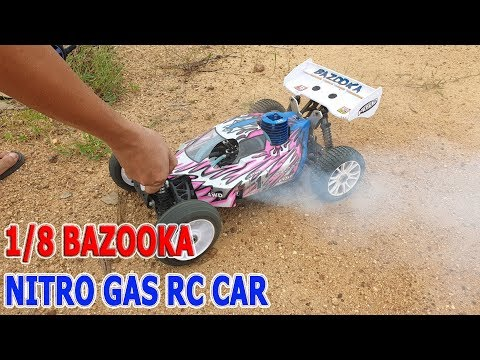 Test and Review 1/8 Bazooka Nitro Gas RC Car