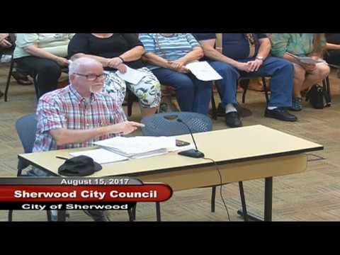 Sherwood City Council - August 15, 2017