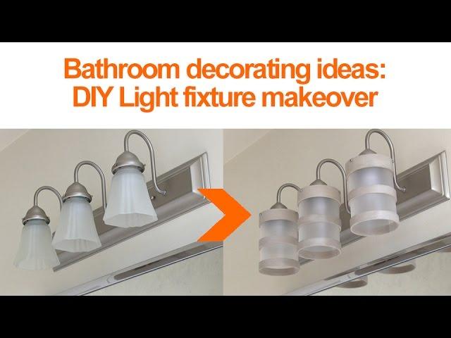 Bathroom Lighting Makeovers diy bathroom lighting fixture makeover: 11 steps