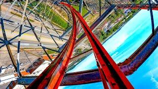 Storm Chaser Roller Coaster Multi-Angle POV 4K - Kentucky Kingdom Amusement Park