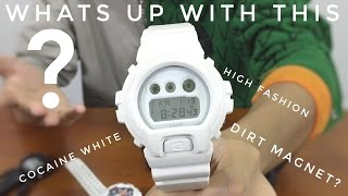 white out white g shock watch review   casio dw 6900ww 7ajf