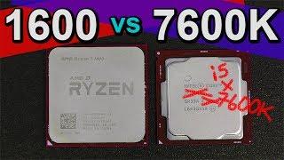 Скачать AMD Ryzen 5 1600 Vs Intel I5 7600K