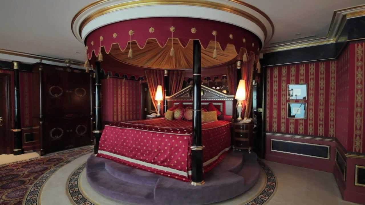 Burj Al Arab - Royal Suite - Master Bedroom - YouTube