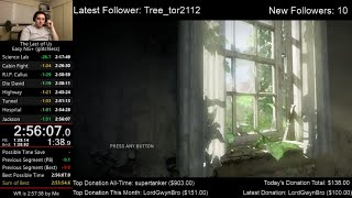 The Last of Us Speedrun (2:56:07) on Easy mode (Glitchless NG+)