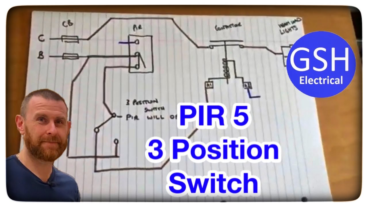 On Site With Matt Pir Contactor 3 Position Switch Wiring Diagram To Help Distant Learning Part 5 Youtube