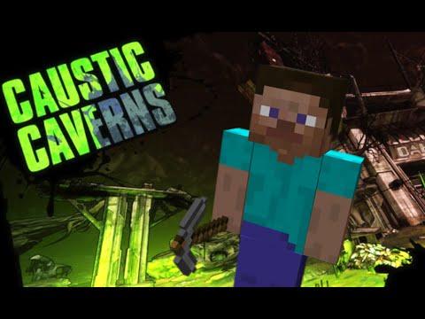 Borderlands 2 - Secret Minecraft Area (Caustic Caverns)