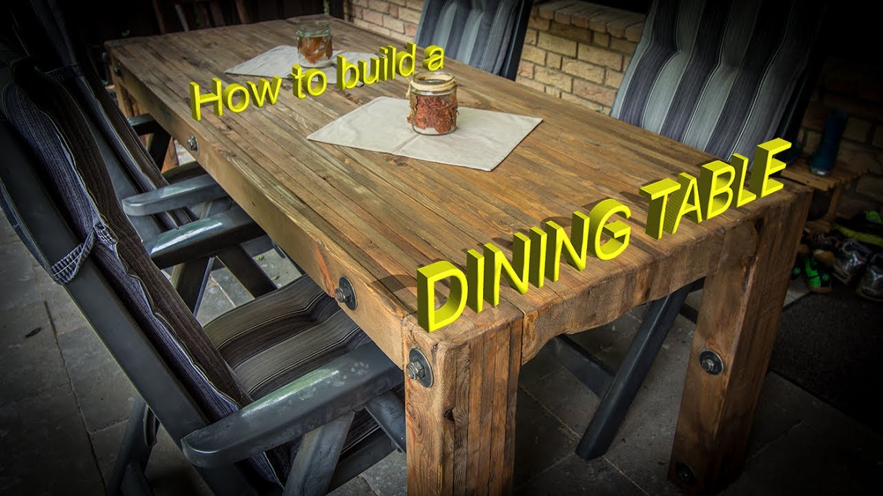 Craftling Dining Table Out Of Pallet Wood