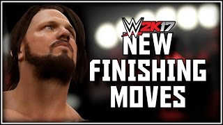 wwe 2k17 all new finishing moves in the game wwe 2k17 new moves finishers ps4 xb1