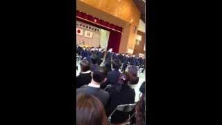 2013山中中卒業式〜卒業生〜