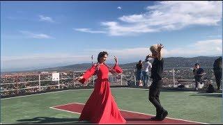Самая Известная Чеченская Лезгинка С Красавицей На Вершине Города 2018 ALISHKA AZARINA ELVIN (Чечня)